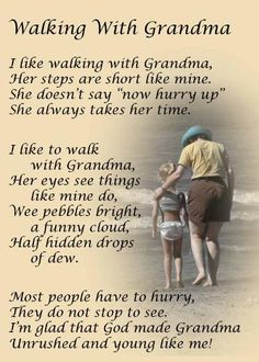 """Walking With Grandma""...this would make a beautiful poem to add to a special picture on a scrapbooking page."