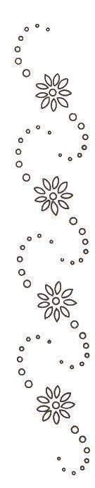 This embroidery motif would look nice in shadow embroidery either down the front of a adult blouse, or on the front of a baby nightgown