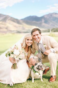wedding in the mountains with puppy! yes please!!