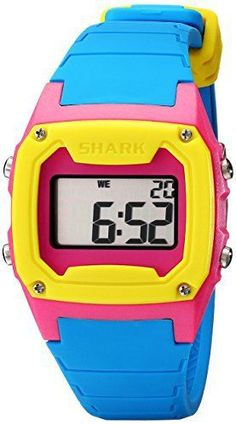 • the world s catalogue of ideas style unisex 101810 shark classic tri tone digital sport watch