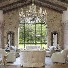Chandelier Goals .... Well maybe not that big, but darn if I had a dreamy room like this, I would TGIF my friends, make it a good one. Thank you @lady_eileena for this stunning pic