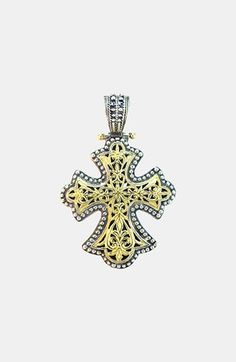 Konstantino 'Classics' Two-Tone Cross Pendant available at #Nordstrom