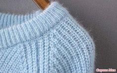 Мохеровый пуловер жемчужной резинкой : mettiss — ЖЖ Hand Knitted Sweaters, Sweater Knitting Patterns, Knitting Stitches, Baby Knitting, Mohair Sweater, Knitted Hats, Filet Crochet, Knit Crochet, Handgestrickte Pullover