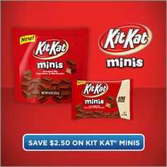 Save 2 dollars and .50 cents on KIT KAT® Minis