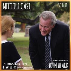 """""""You can't do much of anything without Thurman Hill's permission. And it doesn't sound like he's going to cooperate."""" - Roy.  John Heard is Thurman Hill. #meetthecast #sobit"""