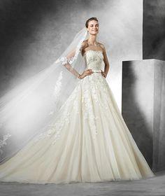 Trey, vestido de noiva com decote em coração, vestido de noiva estilo princesa