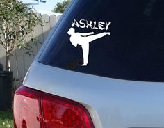 Hey, I found this really awesome Etsy listing at https://www.etsy.com/listing/212417722/karate-car-window-decal-w-name-taekwondo
