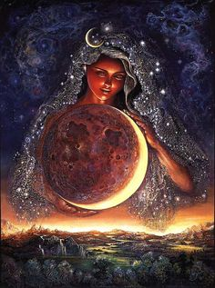 """Selene is the Goddess of the moon in Greek mythology, and Her name means just that, """"Moon."""" She is the daughter of the Titans Hyperion and Theia. She represents, the moon, the white stag, peacefulness and slumber, of gentle beauty and restful healing."""