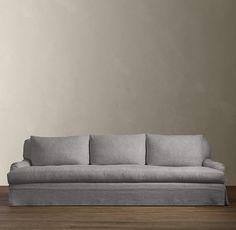 Belgian Classic Roll Arm Slipcovered Sofa