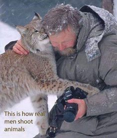 A real Man shoots only pictures of animals! Animals And Pets, Funny Animals, Cute Animals, Wild Animals, Baby Animals, Beautiful Creatures, Animals Beautiful, Big Cats, Cats And Kittens