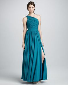 One-Shoulder Slit Gown by Halston Heritage at Bergdorf Goodman.