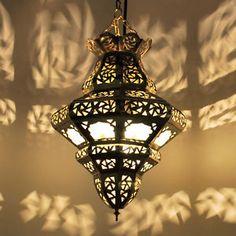 Details Zu Orientalische Laterne Marokko Lampe Hngeleuchte Orient Glaslatern Samara Weiss