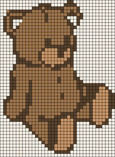 TEDDY BEAR Color Graph Chart Baby Afghan Pattern *EASY ...