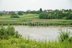 Lake view in the village of Peris - Judetul Ilfov - Romania