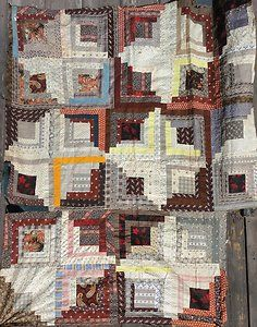 Rags 1870 1880's Calico Log Cabin Quilt Top New England Nice Fabrics | eBay, rags