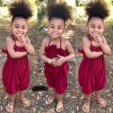 Cute Mixed Babies, Cute Black Babies, Beautiful Black Babies, Cute Babies, Cute Kids Fashion, Little Girl Fashion, Toddler Fashion, Black Baby Girls, Cute Baby Girl