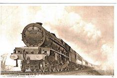 RAILWAY THE MERSEYSIDE EXPRESS LMS DUCHESS OF KENT PUBLISHER PHOTOCHROM 1920'S