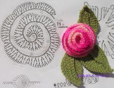 Bya Ferreira - Crochet Designer: 10 Gráficos de flores em crochê