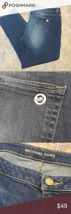 Michael Kors jeans , very lightly used. In great condition. Smoke-free pet-free. Fast shipping. Check out my closet and bundle up get bigger savings. Buttons all say Michael Kors on them Michael Kors logo on back pocket super cute jeans. 98% cotton 2% spandex Michael Kors Jeans Straight Leg