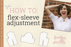 Flex-Sleeve Adjustment Tutorial!, sewing pattern alteration, how to make set-in sleeves more maneuverable, how to make sleeves easier to move in, sleeve pattern adjustment, flex-sleeve pattern adjustment