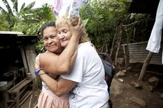 We helped rebuild this woman's home and were shown how grateful she was by this awesome hug! From our El Salvador, 2011 mission