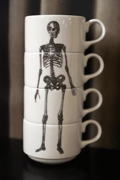 Phoebe Richardson - Bone Collection - Skeleton Cup Stack