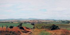 Derwent Wise (1933-2003), The Cheviots, Northumberland (n.d.), acrylic on paper, 71 x 38 cm.
