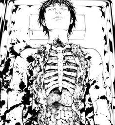 Gore Bloody anime boy Guro