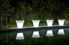 Light up planters would be neat out by the pool!