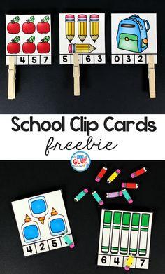 School Clip Cards Pr