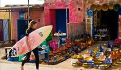 Streets of Taghazout, Morocco. #GoLearnToSurf #GoLearnToYoga