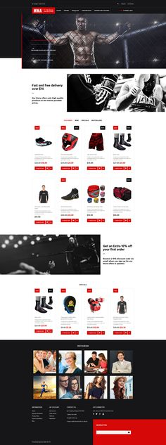 Sports Store Responsive OpenCart Template #63995