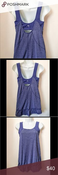 💰Today ONLY SALE lululemon no limits tank top Good condition size 8 purple no limits tank top with adjustable drawstring at the bottom with logo on it in the back. lululemon athletica Tops Tank Tops