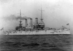 USS Missouri (BB-11), circa 1906,  Maine-class battleship.