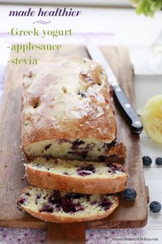 I made this last weekend and it was a huge hit.  Yummy for breakfast with some greek yogurt.  Healthy Lemon Loaf recipe - I want to make this RIGHT NOW