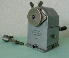 School pencil sharpener I used to do the pencils until they were tiny!