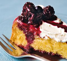 Mixed berry vanilla sponge cake - Healthy Food Guide