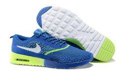 newest 47024 659c6 Nike Air Max Thea Flyknit Mens Sapphire Blue Volt