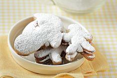 Μπισκότα γεμιστά με καραμέλα από την Αργυρώ Μπαρμπαρίγου! Christmas Sweets, Food Categories, Caramel, Stuffed Mushrooms, Pudding, Cookies, Vegetables, Breakfast, Desserts