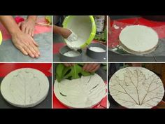 Clay Ornaments, Arte Floral, Cold Porcelain, Diy, Ethnic Recipes, Food, Pasta, Youtube, Plaster Molds