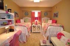 Lilly Pulitzer dorm. To my future roomate- this WILL happen.