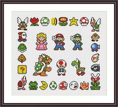 Super Mario Sampler Retro Video Game Super Mario Cross