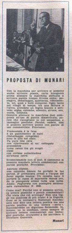Bruno Munari -LA PROPOSTA-