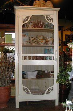 """Custom Made Lisa's Screen Door Hutch.  Hubby could do this for much less than the """"starting at $750"""" price tag."""