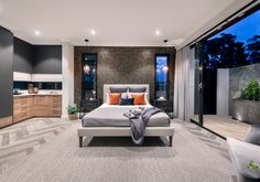 Bedroom delight ❤️ A sumptuous master suite off the hallway features a modern, open plan design with sliding doors to a private outdoor retreat. Stannard Homes The SOHO // 6 Anther Lane, Jolimont Featured Product // Jason Sliding Door and Louvre Windows Bedroom With Ensuite, Two Bedroom, Bedroom Inspo, Bedroom Decor, Guest Suite, Master Suite, Louvre Windows, Timber Cladding, Outdoor Retreat