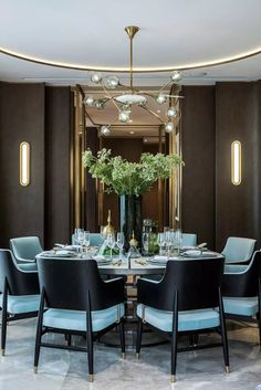 Dining room decor ideas | Inspirations to help you to decor your modern dining room |www.bocadolobo.com #diningroomdecorideas #moderndiningrooms