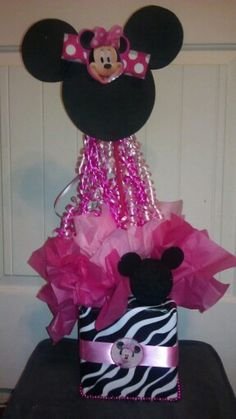 Minnie Mouse -Zebra print- Center Piece...
