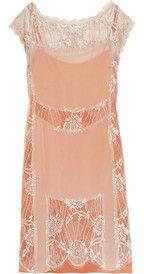 Alberta Ferretti lace and silk georgette dress