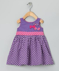 Look what I found on #zulily! Purple Floral Bows Galore Dress - Infant, Toddler & Girls #zulilyfinds