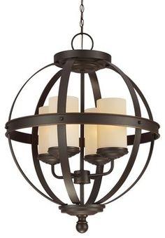 Sea Gull Lighting 3190404-715 Sfera 100W Incand. Transitional Chandelier - transitional - Chandeliers - Arcadian Home & Lighting